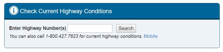 California Road Conditions